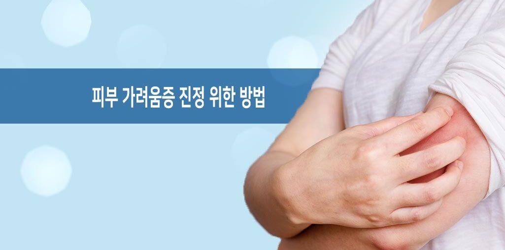 피부 가려움증 진정 방법